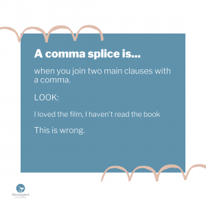What is a comma splice?