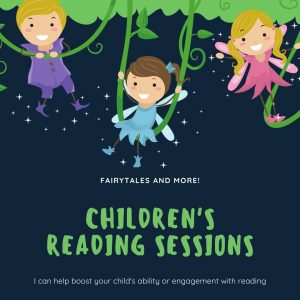 Advert for reading sessions with Inspiring English Stockport